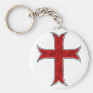 Templar Cross Key Chain
