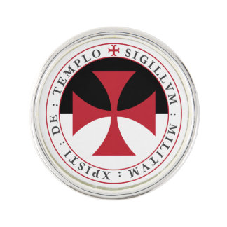 Templar Cross Lapel Pin