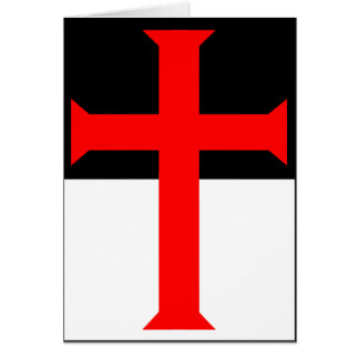 Templar Cross On Beausant Card