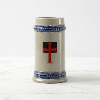 Templar Cross On Beausant Mugs & Steins