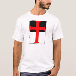 Templar Cross On Beausant T-Shirt