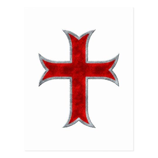 Templar Cross Postcard