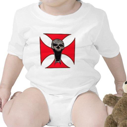 Templar cross skull tshirts