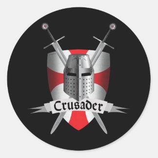 Templar - Crusader Arms Classic Round Sticker