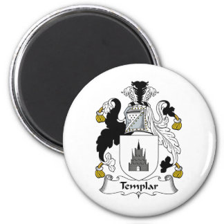 Templar Family Crest 2 Inch Round Magnet