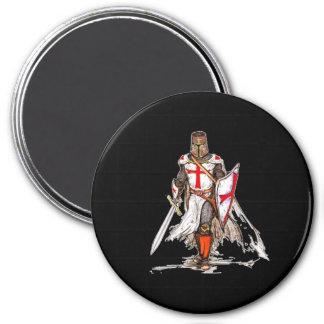 Templar Knight 3 Inch Round Magnet