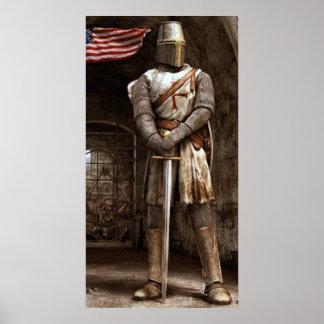 Templar Knight Poster Art