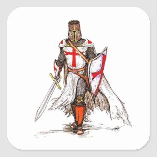 Templar Knight Square Sticker
