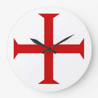 templar knights red cross malta teutonic hospitall large clock