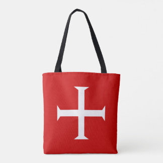 templar knights red cross malta teutonic hospitall tote bag