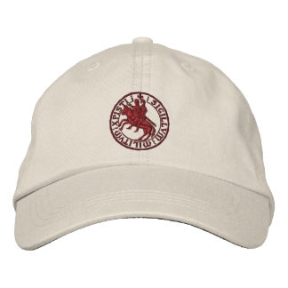 Templar knights seal - sigillo templari embroidered baseball hat