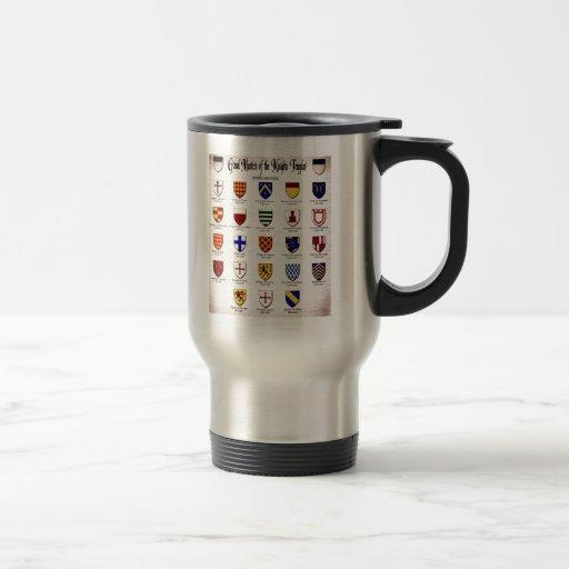 Templar Master Heraldry Mugs