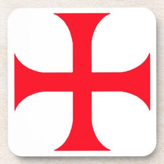 Templar red cross coaster