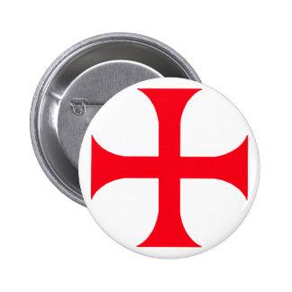 Templar red cross pinback button