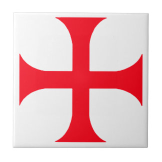 Templar red cross tile