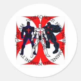 Templar Superheroes Classic Round Sticker
