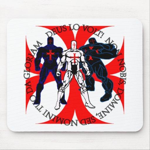 Templar Superheroes Mouse Pad
