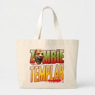 Templar Zombie Head Jumbo Tote Bag