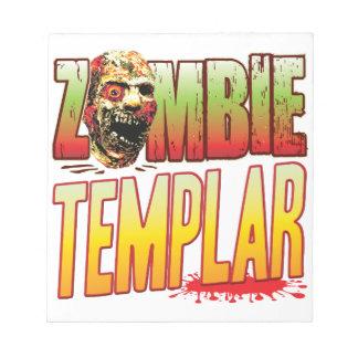 Templar Zombie Head Memo Pad