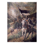 Templario antes de un castillo poster