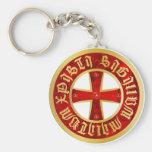Templarios cruz/cruz de caballero/Crusaders cross Llavero Redondo Tipo Pin