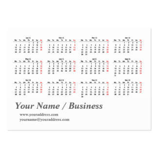 Calendar Template 2015 Calendar Business Card Template - Small ...