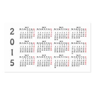 template 2015 calendar Business Card
