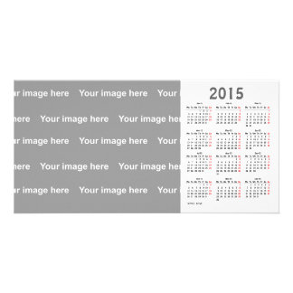 template  2015 Calendar Photo Card