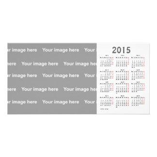 template  2015 Calendar Photo Card