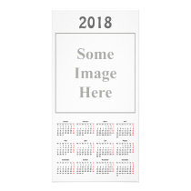 template 2018 Calendar Photo Card