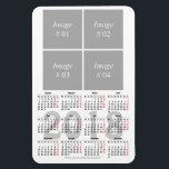 "template 2018 calendar Premium Magnet<br><div class=""desc"">Customizable template 2018 calendar magnet with 4 square images</div>"