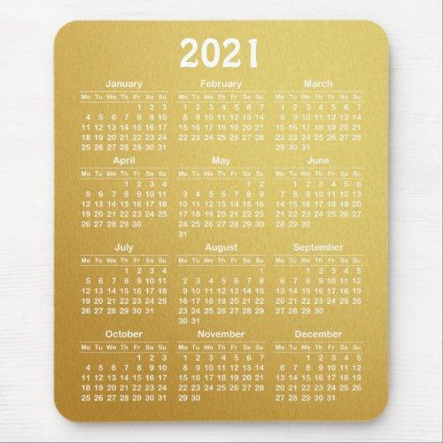 template 2021 calendar mouse pad