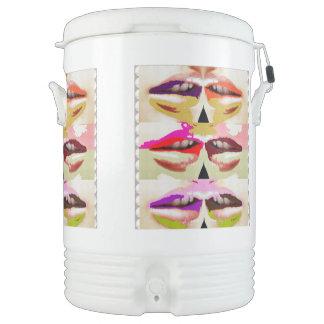 Template add TXT IMG Beverage Cooler KISS LIPS Igloo Beverage Cooler