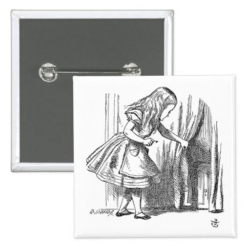 Template Alice Looking for the Door 2 Inch Square Button