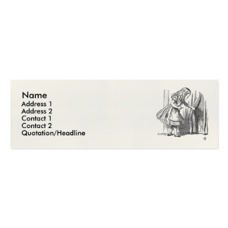 Template Alice Looking for the Door Business Card Template