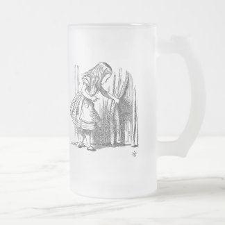 Template Alice Looking for the Door Frosted Glass Beer Mug