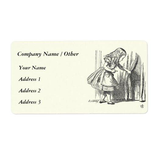 Template Alice Looking for the Door Label