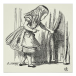 Template Alice Looking for the Door Print