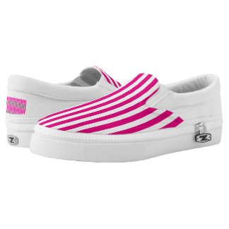 Template All Color Vertical Stripes Slip-On Sneakers