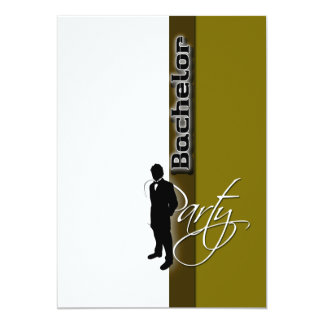 Template bachelor party distinguished mens card