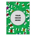 Template, Bee Border Greeting Cards
