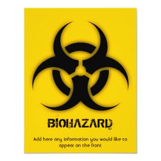 Template Biohazard Customizable Card