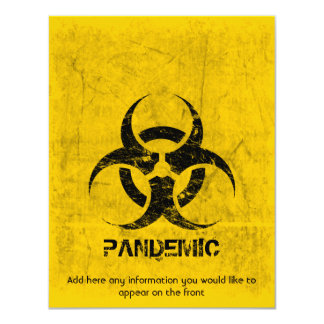 Template Biohazard Grunge Customizable Card