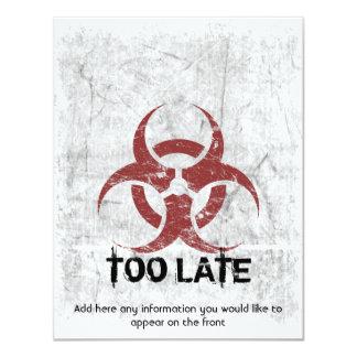 Template Biohazard Grunge Customizable Personalized Invitation