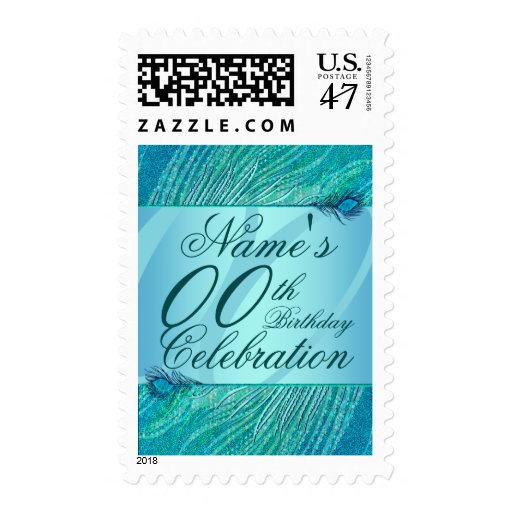 Template birthday postage