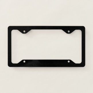 Template Blank add TEXT change background color License Plate Frame