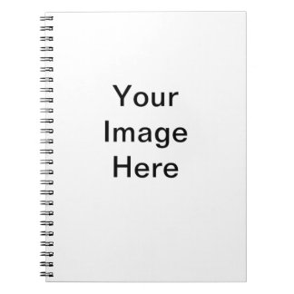 Template blank easy add TEXT PHOTO JPG IMAGE FUN Spiral Note Books
