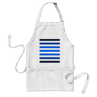Template ~ Blue Black Stripes ~ Add Picture/Text Adult Apron