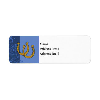 Template - Blue Floral Label Horseshoe
