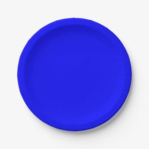 Template Blue Paper Plate